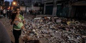 İsrail güçleri Gazze'yi yerle bir etti: Bombardıman sonrası ortaya çıkan görüntüler