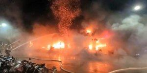 Tayvan'da bina yangını